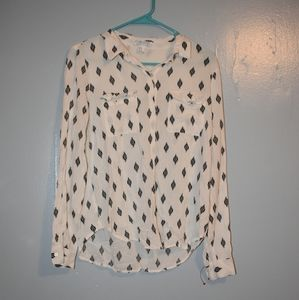 Patterned White Button Down